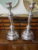 Gyönyörű szép ezüst gyertya tartó pár