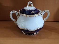 Zsolnay pompadour 1. teás cukortartó fedővel hibátlan, új 0,5l