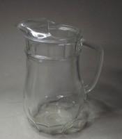 Régi üvegkancsó különleges forma 1,5 l
