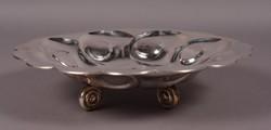 Art Deco ezüst kínáló
