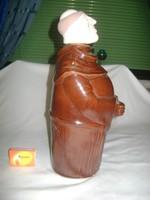 Mázas kerámia butella, pálinkának vagy bornak