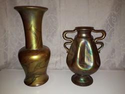 2 db.régi Zsolnay eozin váza