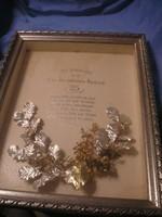 N16 Üveglapos ezüstözött Doboz keretben Antik meg emlékezés csak kerete árában eladó 47 x 35 cm