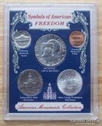 5 pcs medal speciality, rarity: the symbols of America are silver