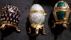 Különleges egyedi fabergé tojás kollekció 3 db