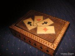 Kártyatartó Fadoboz