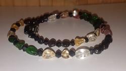 Smaragd, Rubin, Citrin   , Gránát, és kristály nyakék.