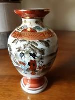 Antik aranyozott jelenetes Japán váza