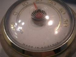 N16 Osztrák hőmérő ritkaság  Antik aranyozott szegélyű ónixba épített ami levélnehezéknek is való
