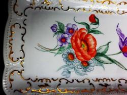 Gyönyörű porcelán süteményes tálca