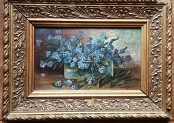 Régi jelzett olaj - fára festett, festmény (2)