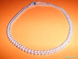 46 cm -es Gyöngyös 925 ezüst - fehérarany Nyaklánc