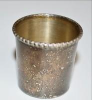 Vodkás pohár üvegbetéttel ezüstözött