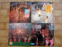 5 db.-os tangó-, és tánczenék bakelit hanglemez-csomag (LP)