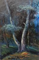 Bozsó János: Erdőrészlet