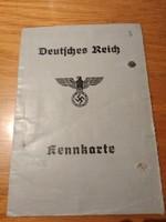II. Világhàborús Német személyi igazolvány