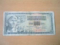 JUGOSZLÁVIA 1000 DINÁR 1978 AT #