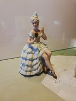 Nagyméretű( 22 cm ), csodálatos, német , hibátlan balerina