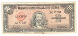 10 peso 1960 Kuba