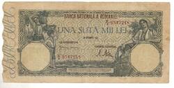 100000 lei 1946 Románia II.