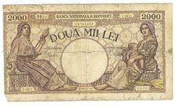 2000 lei 1941 Románia II.