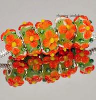Muránói üveggyöngy charm, Pandora karkötőre, nyakláncra