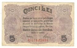 5 lei 1917 Románia