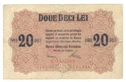 20 lei 1917 Románia II.