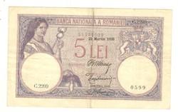 5 lei 1920 Románia I.