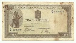 500 lei 1941 Románia II.