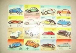 Préselt képek - 32 db régi autók