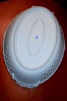 Messeni két kardos jelzéssel porcelán tál (fehér porcelán)