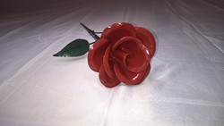 Kovácsoltvas piros rózsa kézzel készített Valentin napi akció !!!!!!