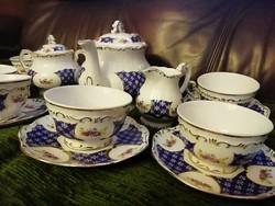 Zsolnay teáskészlet Marie Antoinette