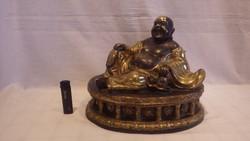 Lenyűgöző szépségű nagyméretű réz Buddha szobor ritkaság 6 Kg