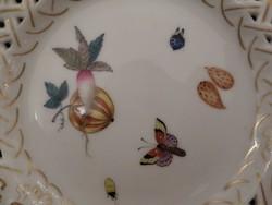 Antik herendi áttört tányér