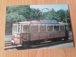 1912-ben gyártott villamos motorkocsik egyike - KÖZLEKEDÉSI FOTÓ ,KÉPESLAP, LEVELEZŐLAP