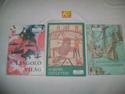 Képes Történelem könyv sorozat három kötete 1967-70-77