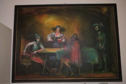 Borozgatók Strissowszky Szilárd festmény
