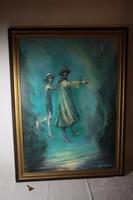 Strissowszky Szilárd festmény Szindbád a Dunán