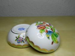 Herendi Viktória VBO porcelán bonbonier hibátlan állapotban!
