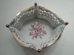 Nagyméretű Wallendorf áttört porcelán kosár