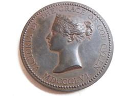 KK36 1856 Vikrória királyné bronz medál
