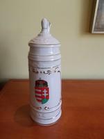Hollóházi kupa magyar címerrel