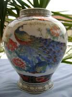 Antik japán  porcelán váza 17.5 cm