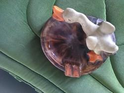 KOMLÓS kerámia Ritkaság: ludas hamutartó tál, asztalközép