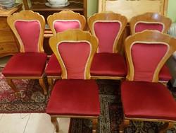 6 db régi bieder jellegű szék