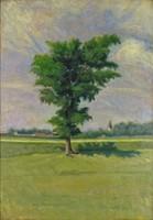 0M557 Ismeretlen festő : Faluhatár