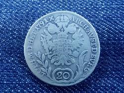 II. Lipót ezüst 20 krajcár 1791 B