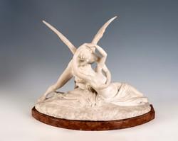 Antonio Canova után Ámor és Psziché alabástrom szobor